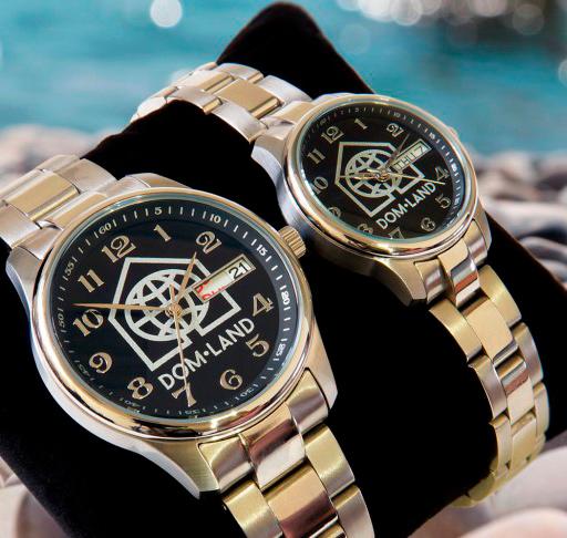 Часы для компании Dom-Land, выполнены на базе модели Orion. Нержавеющая сталь, 5 АТМ.