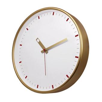 Настенные часы с логотипом Модель 77 круглые с золотистым корпусом