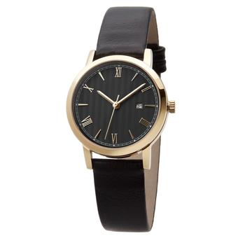 Часы женские Sagitta Date L01D-LG с чёрным циферблатом