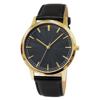 Часы мужские Sagitta L01-MG с чёрным гильошированным циферблатом