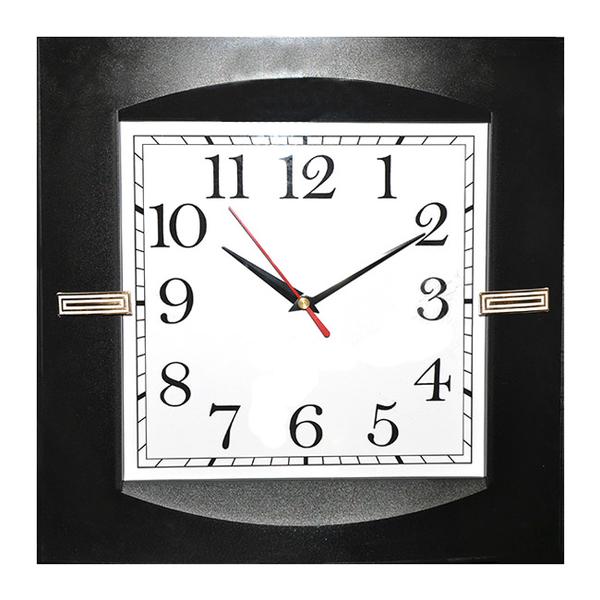 Часы с логотипом Модель 33 квадратные пластик