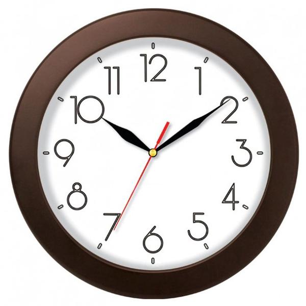 Часы с логотипом Модель 01 круглые дерево