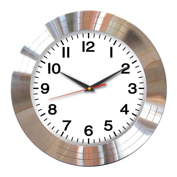 Часы с логотипом Модель 01  круглые алюминий