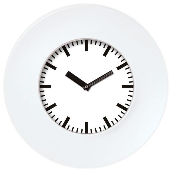 Настенные часы с логотипом Модель 55 круглые с белым корпусом