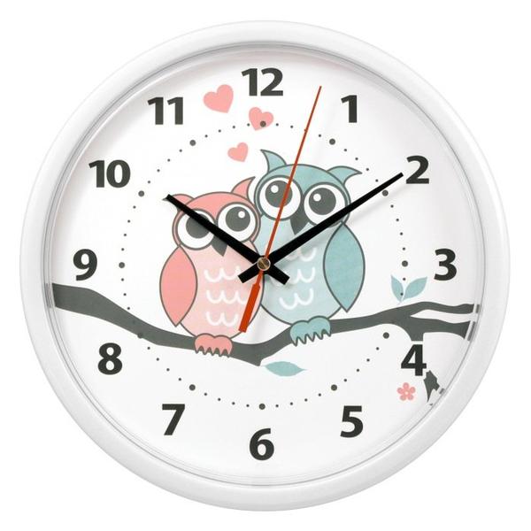 Часы с логотипом Модель 09 Круглые белые