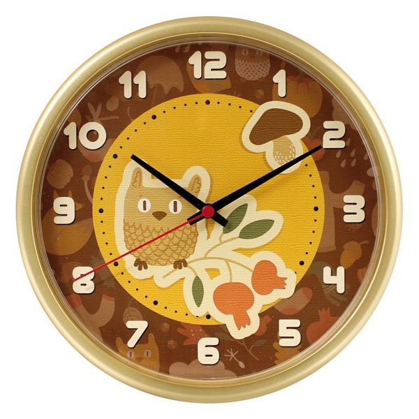 Часы с логотипом Модель 09 Круглые золотистые