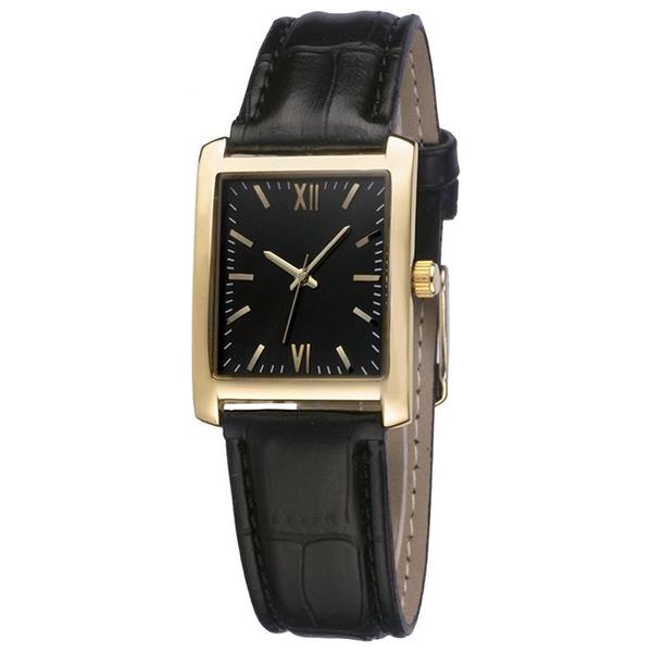 Наручные часы Gemini A07-LG с чёрным циферблатом