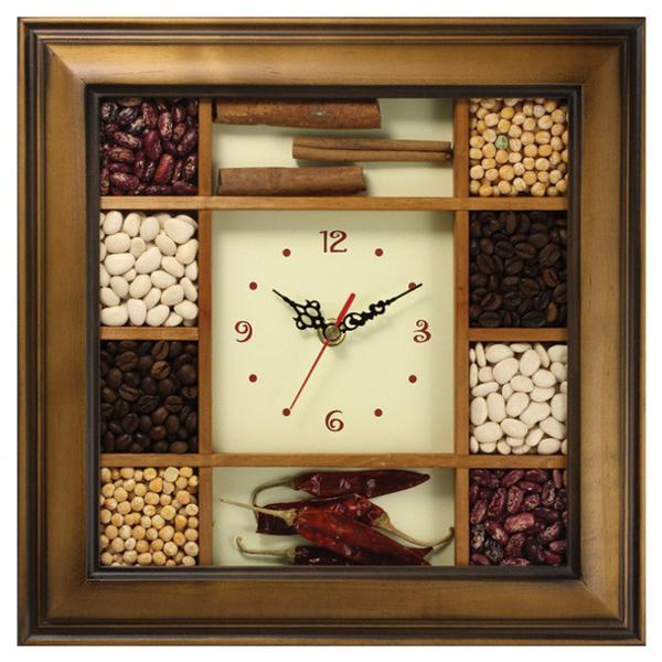 Часы с логотипом Модель 03 Квадратные Дерево С насыпными элементами