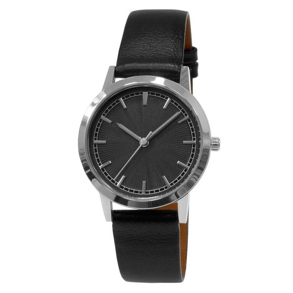 Часы женские Sagitta L01-LS с чёрным  гильошированным циферблатом