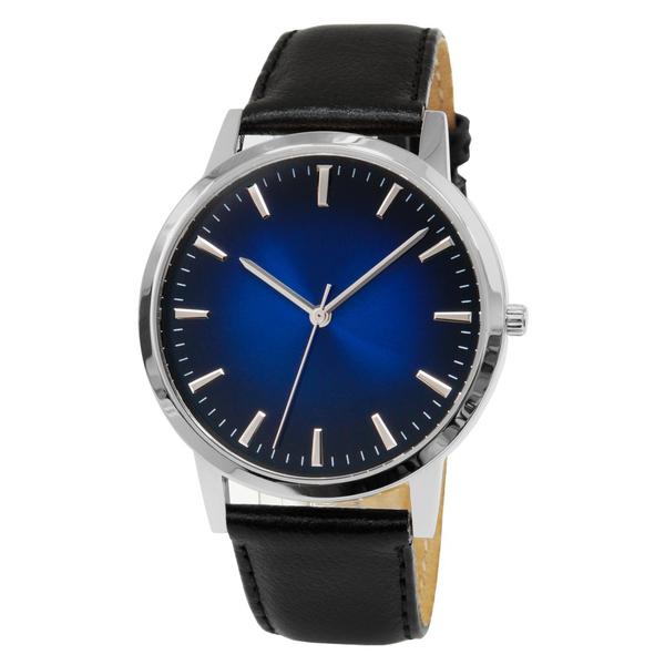 Часы мужские Sagitta L01-MS с двухтоновым сине-чёрным циферблатом