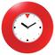 Настенные часы с логотипом Модель 55 круглые с красным корпусом