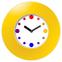 Настенные часы с логотипом Модель 55 круглые с жёлтым корпусом