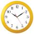 Настенные часы модель 05 жёлтый корпус