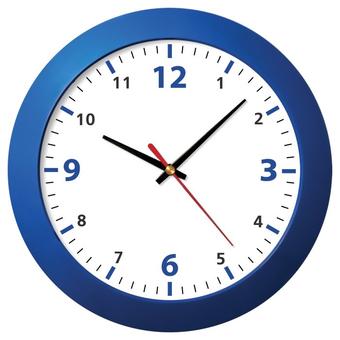 Настенные часы модель 05 синий корпус