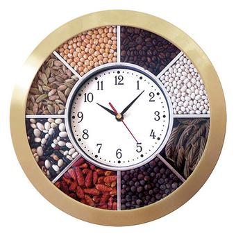 Часы с логотипом Модель 01  Круглые c насыпными элементами