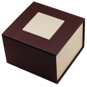 """Картонная коробка для наручных часов, """"куб"""" коричневая с золотым"""
