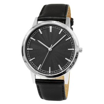 Часы мужские Sagitta L01-MS с чёрным гильошированным циферблатом