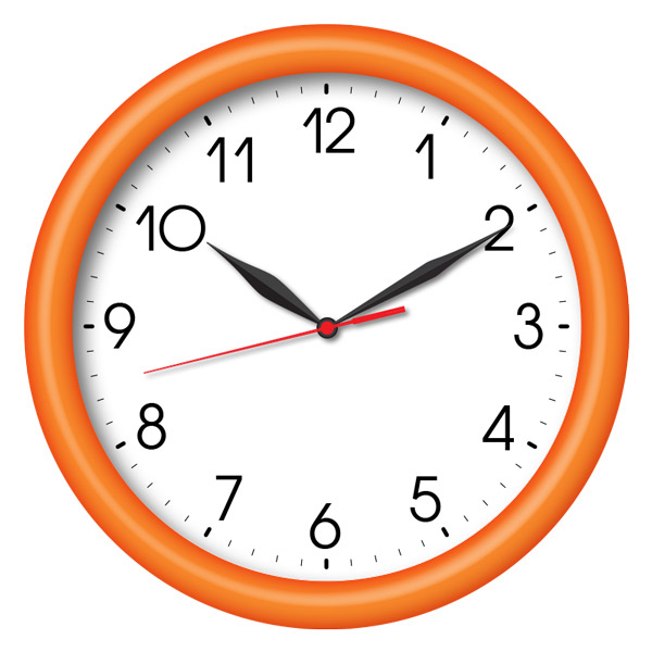 Часы с логотипом Модель 02 круглые