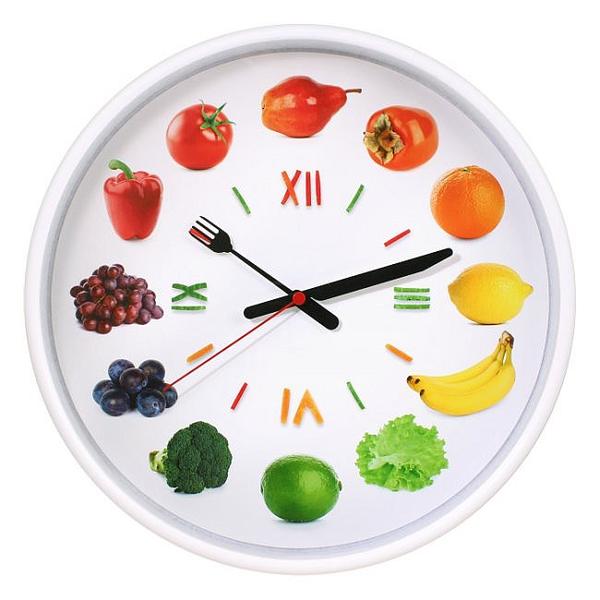 Настенные часы с логотипом Модель 77 круглые с белым корпусом