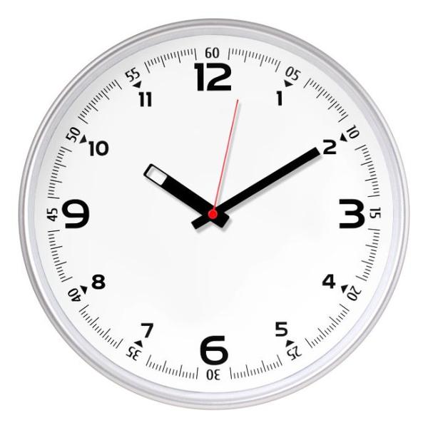 Настенные часы с логотипом Модель 77 круглые с серебристым корпусом