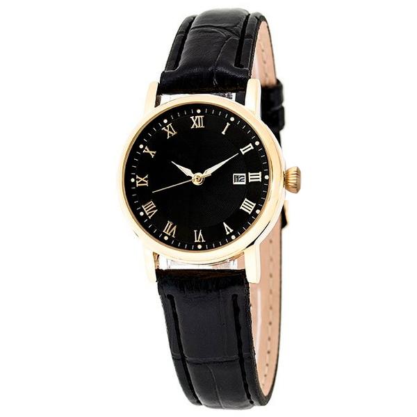 Часы женские Lacerta A06-LG с чёрным циферблатом