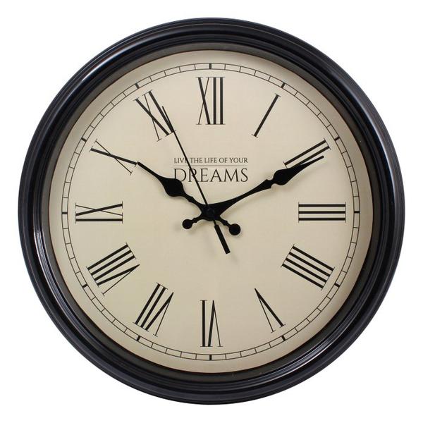 Настенные часы с логотипом Модель 88 круглые с чёрным корпусом