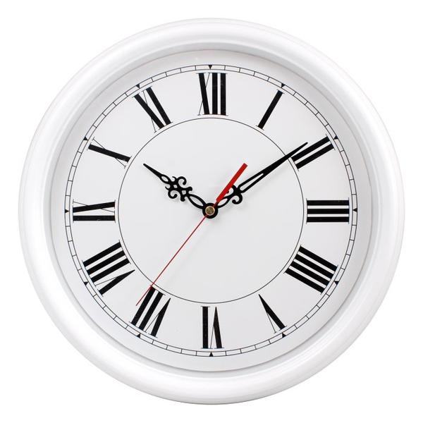 Настенные часы с логотипом Модель 88 круглые с белым корпусом