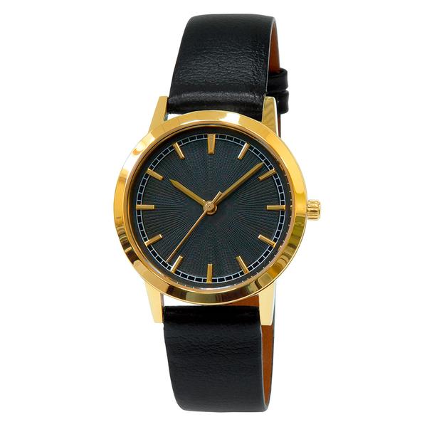 Часы женские Sagitta L01-LG с чёрным гильошированным циферблатом
