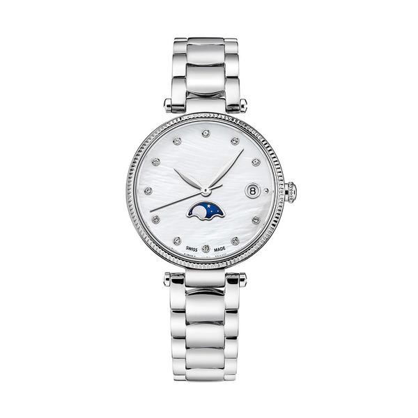 Часы с логотипом Moonphase Lady PL40196.01