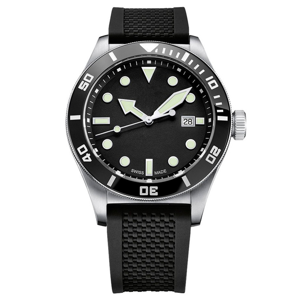 Часы с логотипом Sport Diver PLA44075.06 на каучуковом ремне