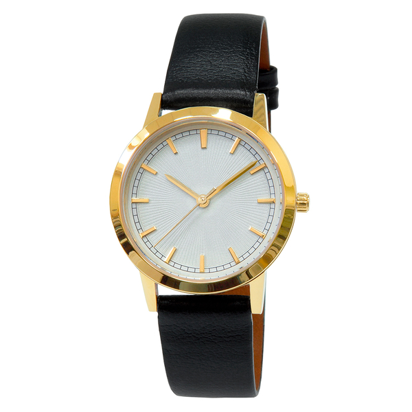 Часы женские Sagitta L01-LG с белыйм гильошированным циферблатом