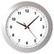 Настенные часы модель 05 серебристый корпус