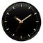Настенные часы с логотипом Модель 77 круглые с чёрным корпусом