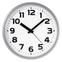 Часы с логотипом Модель 09 Круглые серебристые