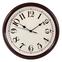 Настенные часы с логотипом Модель 88 круглые с бордовым корпусом