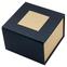 """Картонная коробка для наручных часов, """"куб"""" чёрная с золотым"""