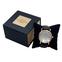 """Картонная коробка для наручных часов, """"куб"""" чёрная с золотом"""